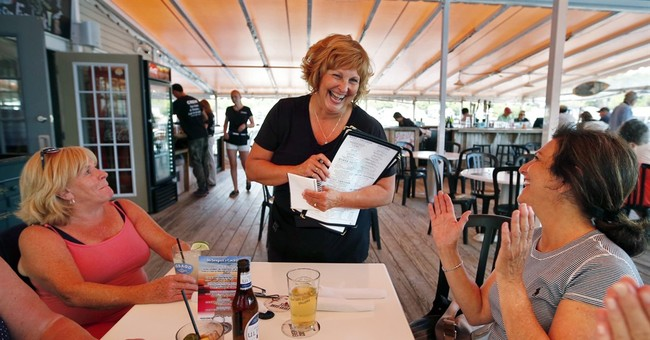 Wife of nation's lowest-paid governor takes waitressing job