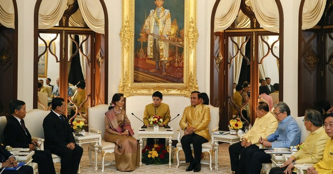 Suu Kyi says trust must precede peace in Myanmar