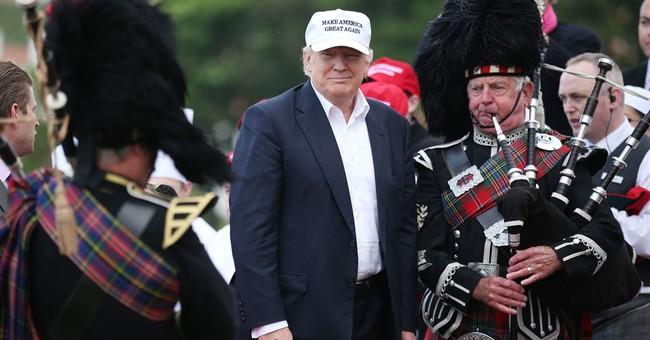 Trump, in Scotland, links Brexit vote to his campaign