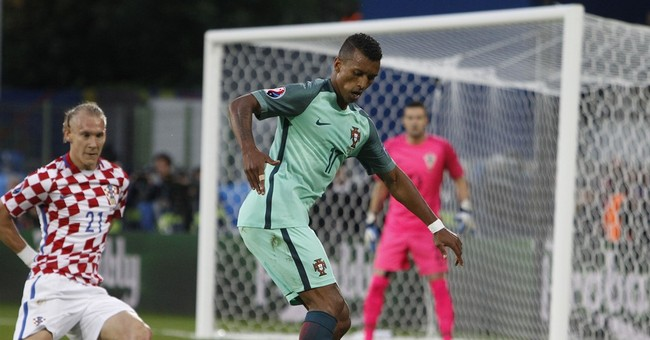 Nani celebrates milestone for Portugal with hand in winner