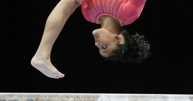 Laurie Hernandez crashing the party at US championships