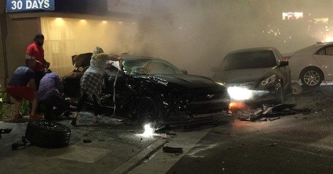 The Latest: 3 dead, 5 injured  in fiery Los Angeles crash