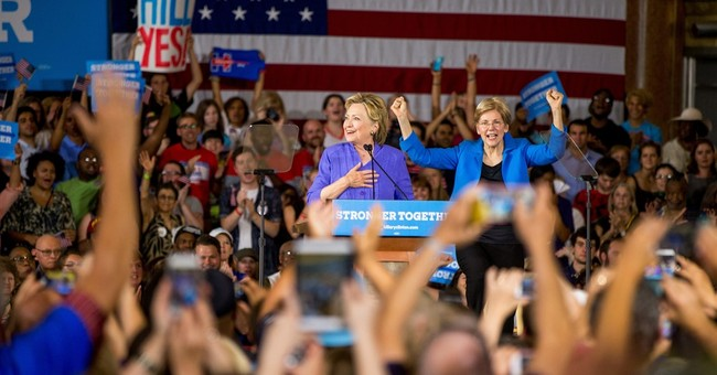 AP FACT CHECK: Warren fudges some facts at Clinton stop
