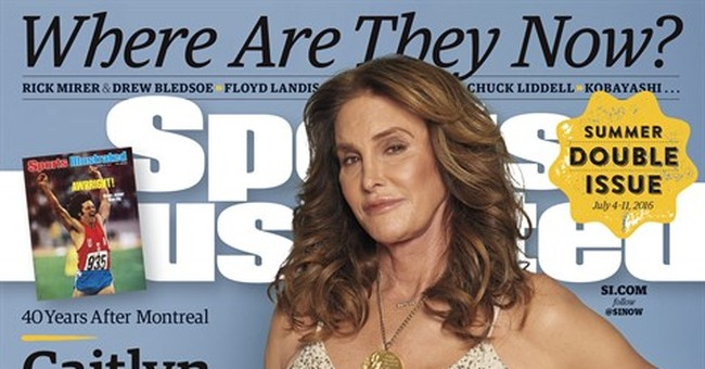 Caitlyn Jenner dons medal for 'Sports Illustrated' cover