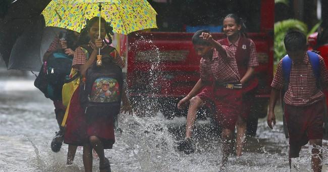 Image of Asia: A splash of monsoon rain in Mumbai