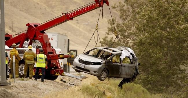 Mothers, 4 children killed in fiery wreck near Los Angeles