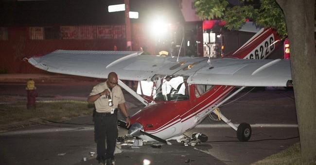 Pilot, bystander hurt after plane crashes in Detroit street