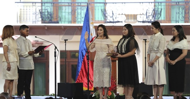 Philippines' new vice president sworn into office