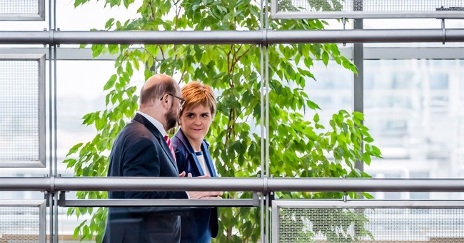 The Latest: Scottish leader meets with EU over Brexit