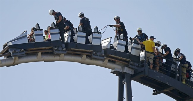8 rescued after Oklahoma City roller coaster gets stuck