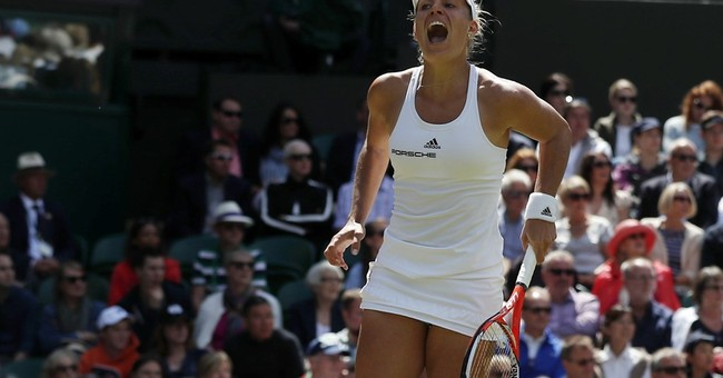 The Latest: Venus and Serena win in doubles at Wimbledon