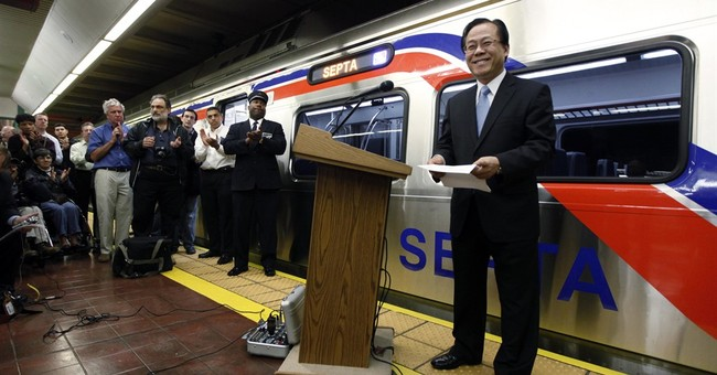 The Latest: Philly riders start early with trains sidelined