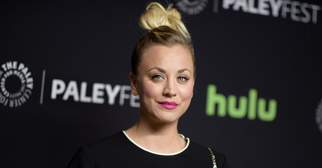 'Big Bang' star Kaley Cuoco sorry for pic of dogs on US flag