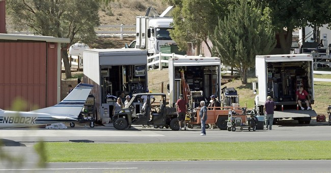 Stuntman injured while filming at rural California airport