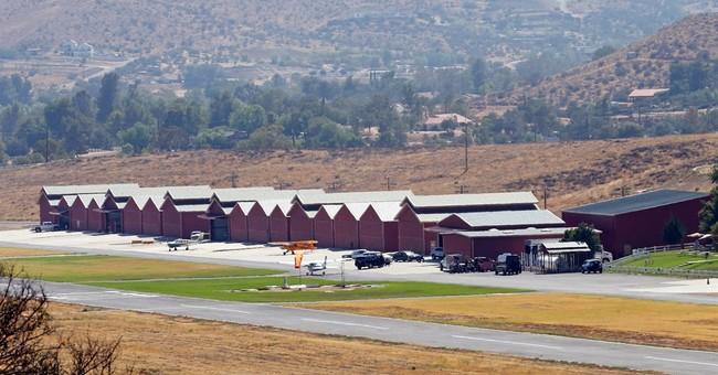 Stuntman injured while filming at rural California airport