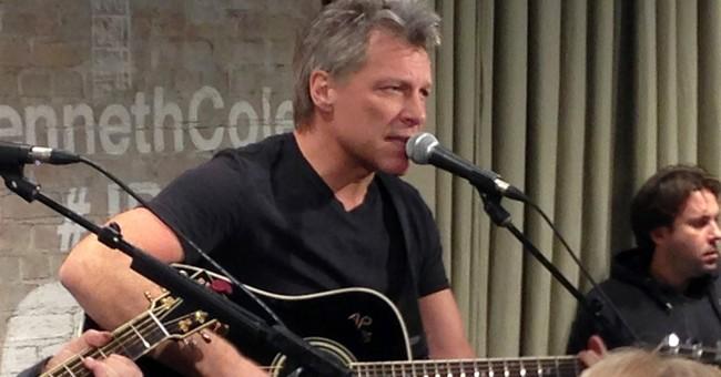 Jon Bon Jovi joins wedding band for 'Livin' on a Prayer'