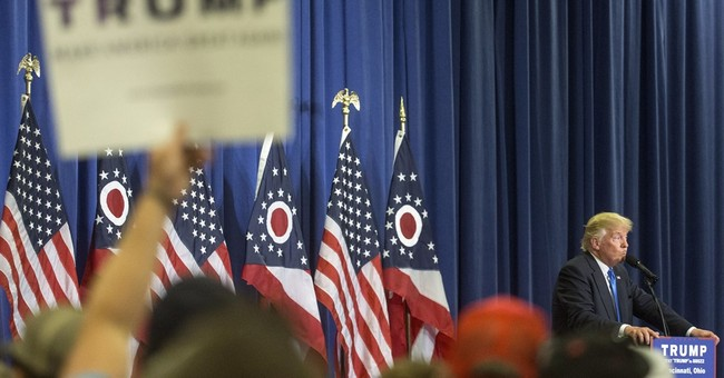 Brash Trump courts, jabs, anxious Republicans
