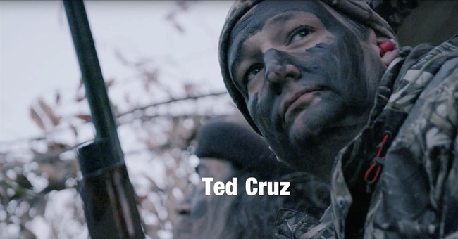 Cruz dons face paint in appeal to hunters, gun owners