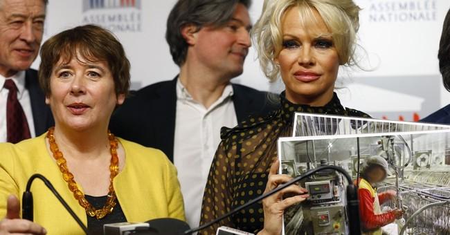 Pamela Anderson adds star power to French foie gras debate