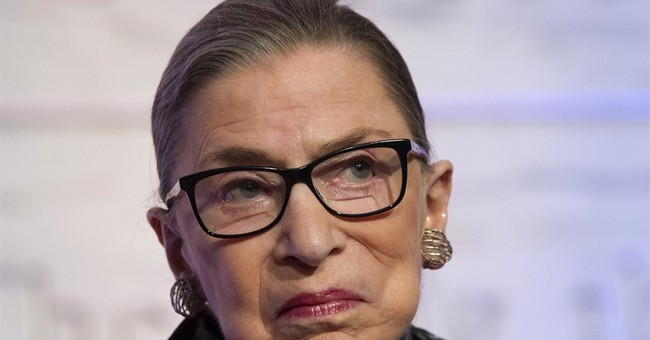 AP interview: Ginsburg doesn't want to envision a Trump win