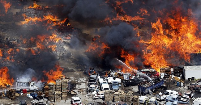 Fire, explosions at Utah storage yard emits plumes of smoke