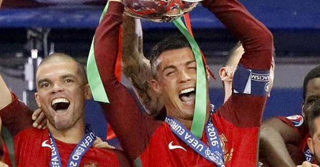 Happy Ronaldo leaves European final in tears for 2nd time