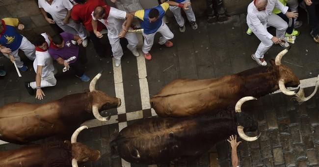 2 Spaniards gored, 3 injured in Pamplona bull run