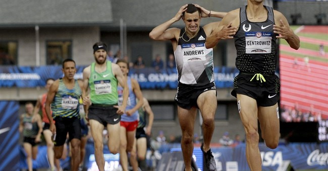 The Latest: Douglas fighting for spot on gymnastics team