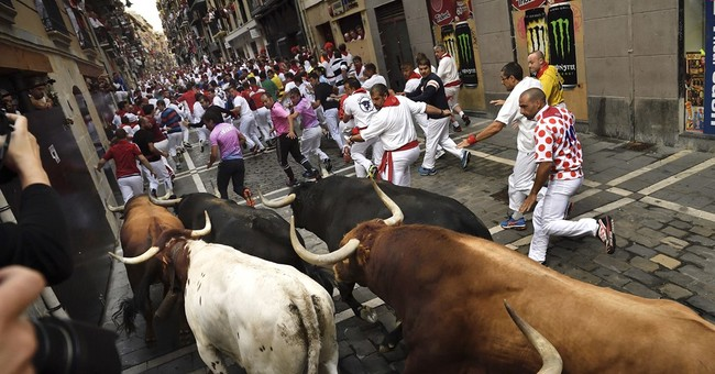 Running of the bulls: 4 runners injured, none gored in Spain