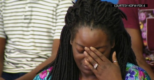 Texas woman shot while protecting son says she'd march again