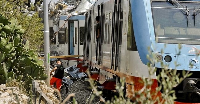 Official: 22 dead in head-on train crash in southern Italy