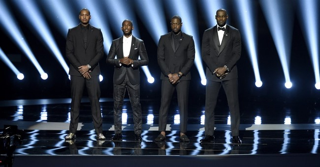 NBA stars open ESPYs urging end to profiling, gun violence