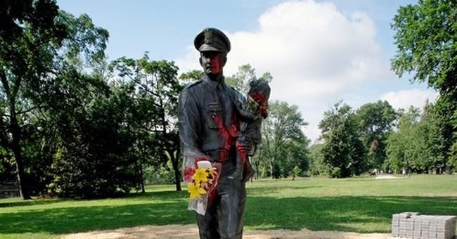 Police: Memorial officer statue vandalized