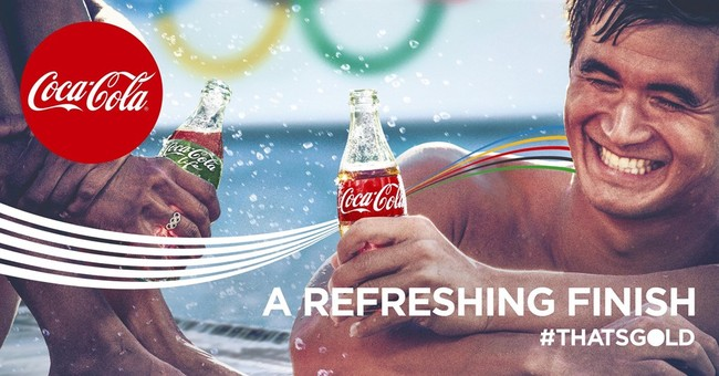 Olympics marketers go for the gold