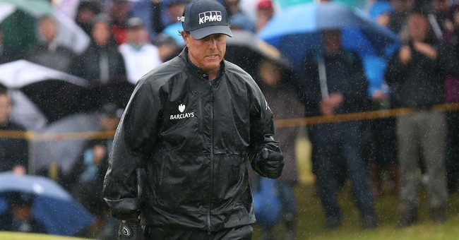 The Latest: Stricker's streak of pars ends with an 8