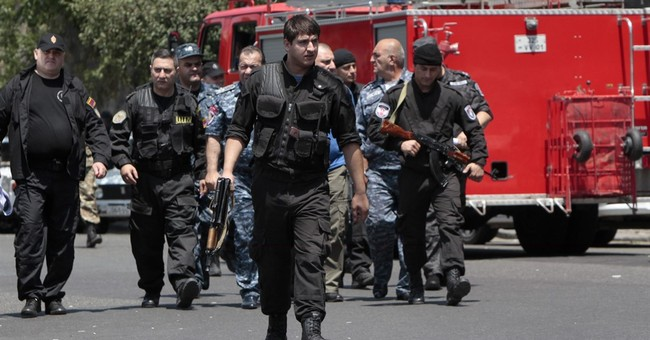 Armenian police station attacked; 1 dead, hostages taken
