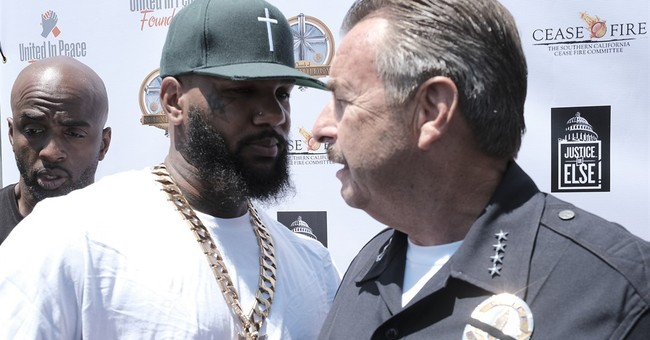 LAPD chief, rapper The Game team up for anti-violence PSA