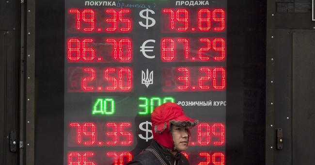 Russian ruble keeps on falling, hits new record low