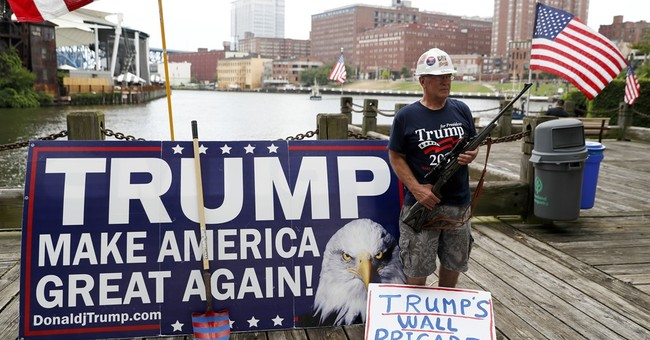 Pro- and anti-Trump forces hold dueling rallies in Cleveland