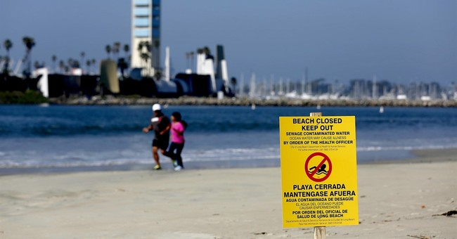The Latest: Ocean sample tests clean after LA sewage spill
