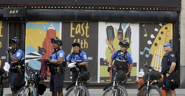 Cleveland police using bikes to control convention crowds