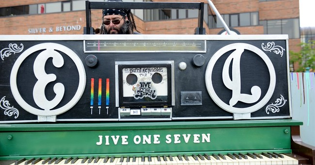 Brightly-decorated pianos offer chance to play in public