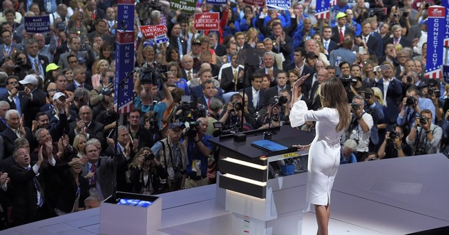 Comparison of Melania Trump's remarks with Michelle Obama's