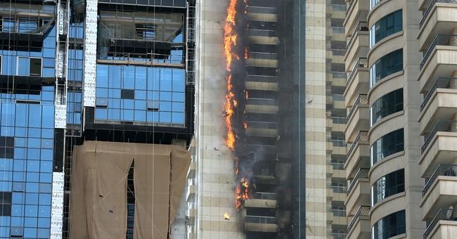 Residential skyscraper in Dubai catches fire in dense area