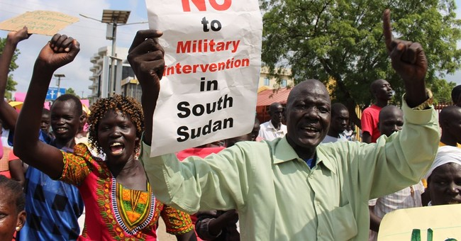 South Sudan government rejects foreign troops, backs protest