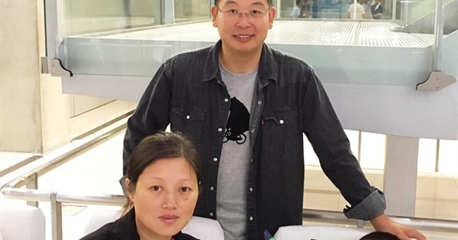 Wife, son of prominent Chinese dissident arrive in US