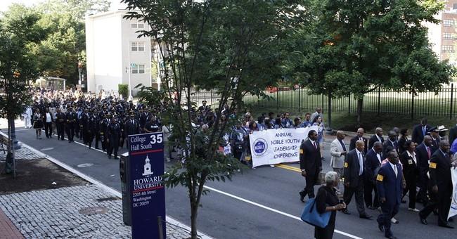 Black law enforcement leaders march for fallen officers