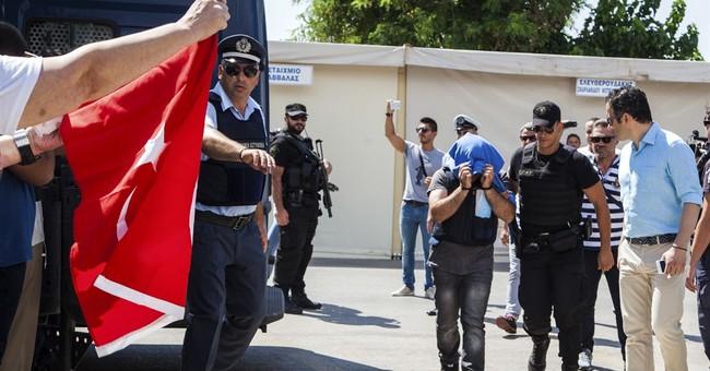 Turkish chopper fugitives seek asylum in Greece
