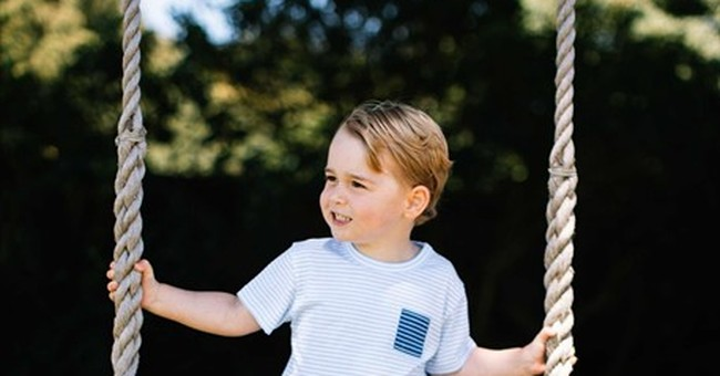 William and Kate release photos for Prince George's birthday