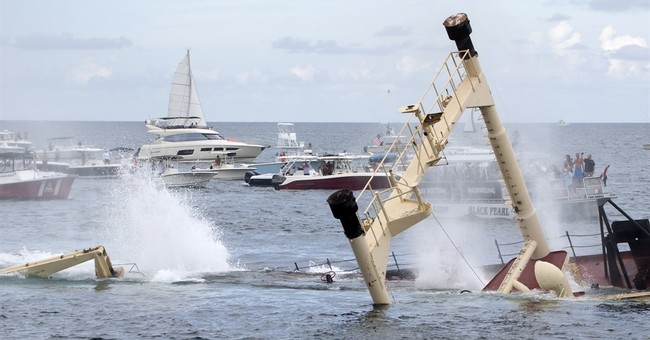 New artificial reef is sunk off Florida's Pompano Beach